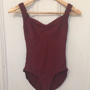 Wear Moi Burgundy Sweetheart Neckline Bodysuit